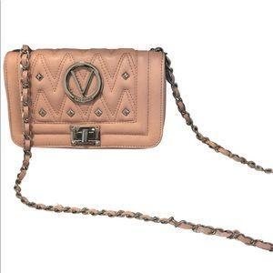 Mario Valentino Beatriz Pink Leather CrossBody Bag
